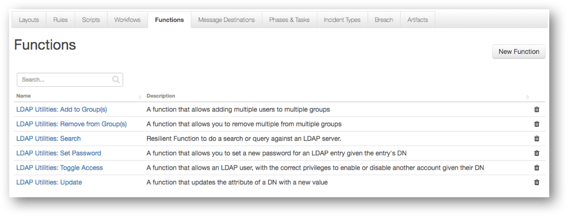 Ibm Security App Exchange Ldap Functions For Resilient Description Of Function