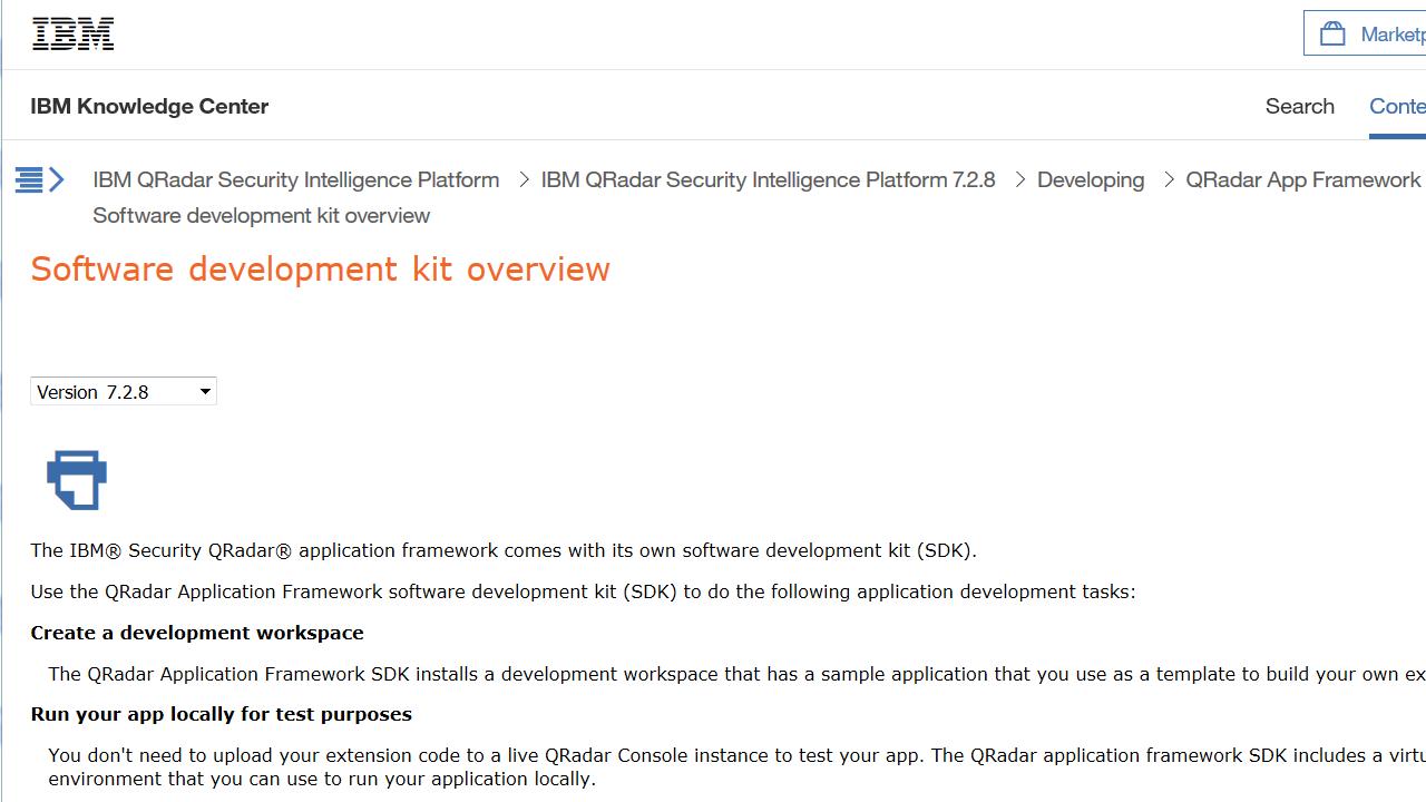 IBM Security App Exchange - IBM QRadar SDK