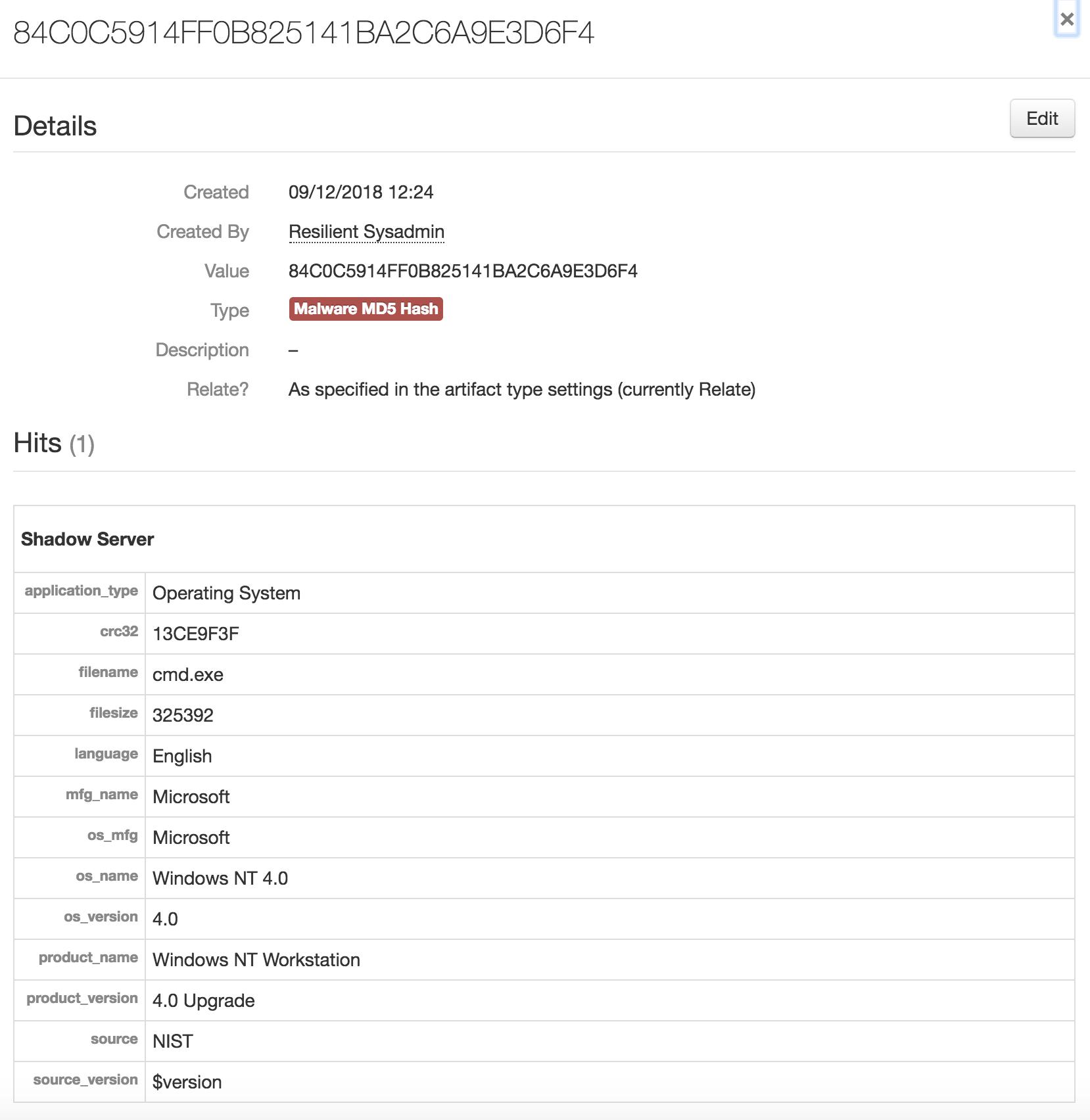 IBM Security App Exchange - Shadowserver Threat Service for