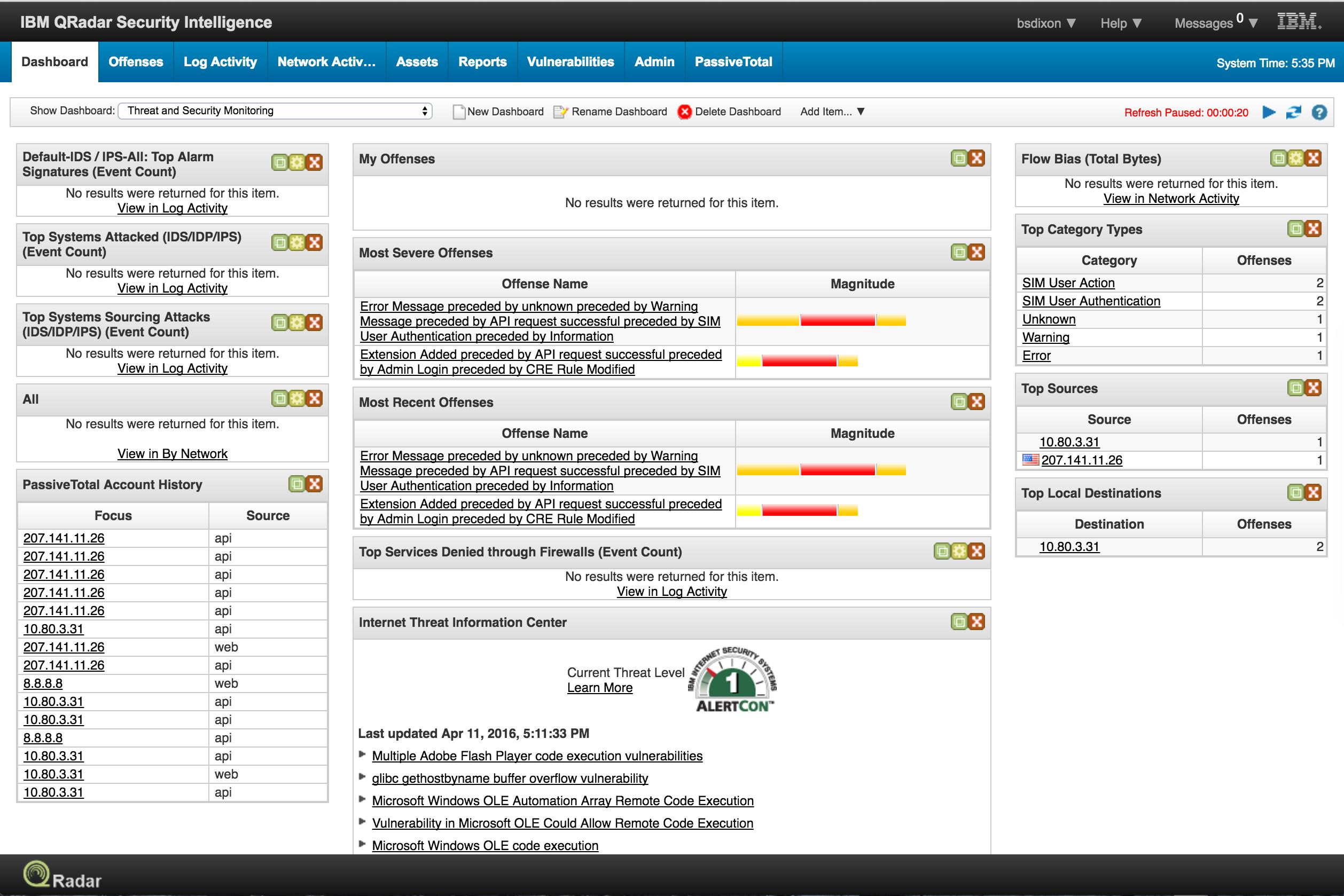 IBM Security App Exchange - RiskIQ PassiveTotal for IBM QRadar